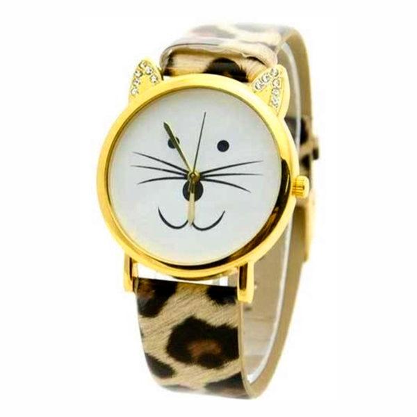 Reloj Cara de Gato Animal Print